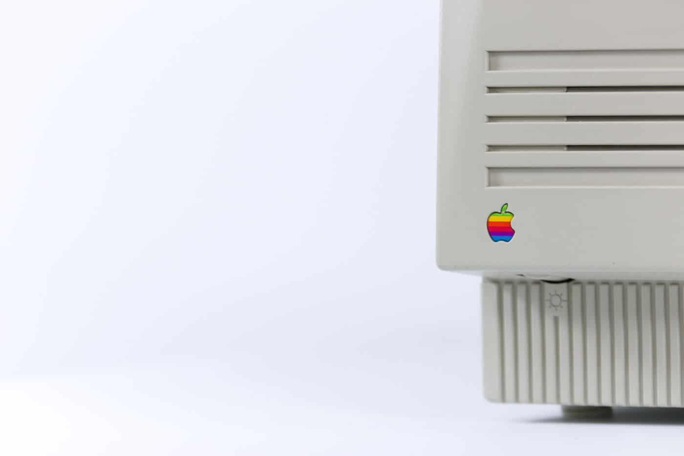 An old Apple Macintosh.