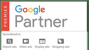 google premier partner badge for Pilot Digital